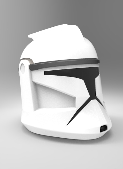 CloneTrooper Helmet 3D Model render