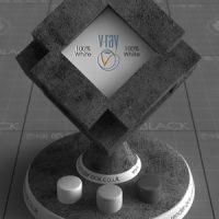 Dark Concrete Free VRay Material