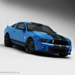 Ford Mustang GT500 3D Model Front