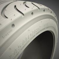 tyre 3d model clay render