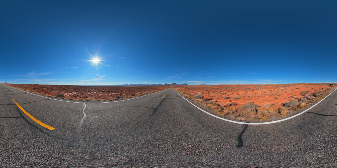 Sunny Desert Road HDRI Free Download | VrayMaterials co uk
