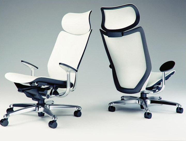 Modern Office Chair Free 3D Model Render