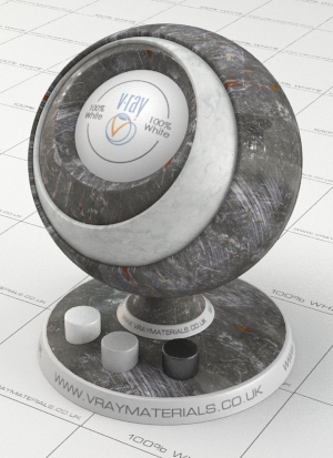 Scratched metal vray material