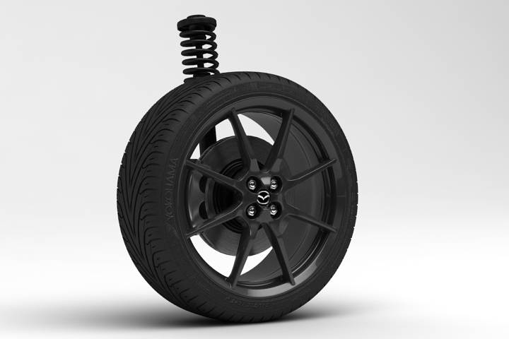 2015 New Mazda MX-5 Wheel 3D Model
