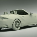 New Mazda MX5 3D Model Clay Render Rear