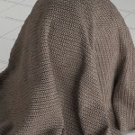 Brown Cotton Vray Material Download